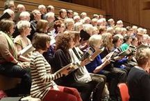 About our choir, Birmingham Festival Choral Society. / Singing good music together brings happiness and friendship.