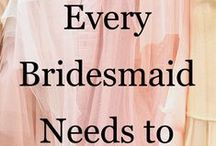 Everything Bridesmaids / Bridesmaids dresses and ideas to get you inspired