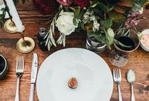 Table Styling / Inspirational table setting and general styling ideas for your big day!