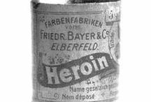 Heroin, Cocaine in Medicines / Heroin and cocaine and other drugs used to be in medicines. So many must have been addicts!