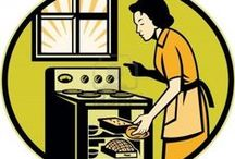 Domestic Goddess / Illustrations, packaging and textiles about the fifties or retro housewife