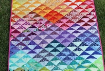 Quilts - Half-Square Triangle Ideas / by Karen Cooper