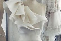 Drape / Fabric manipulation in all its beautiful art-forms - Wedding gown inspiration
