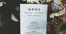 Menu / Wedding menu inspiration