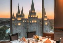 The Roof Restaurant / This award-winning restaurant is located on the 10th floor of the Joseph Smith Memorial Building. Delight in a fusion of extravagant food and breathtaking views of Temple Square and Downtown. Two-time Best of State winner for Fine Dining Buffet. www.RoofMenu.com
