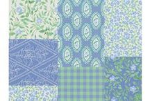 Faux Patchwork Fabrics / Faux Patchwork fabrics available in my Posh & Painterly Zazzle store.