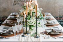 Refined Minimalist Wedding Table Decor