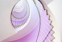 Staircase : Stairs : Escalade / stair·case / ˈsterkās / noun / A set of stairs and its surrounding walls or structure.