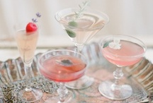 Wedding Cocktails / A selection of signature cocktails, pretty details and display ideas for weddings and parties.