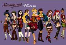 Disney Princesas / Ilustrações diferentes com as Princesas de Disney.