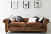 SOFAS ✚ POUFS ✚ STOOLS / Sofa's, lounge chairs, ottomans, poufs inspiration