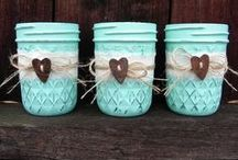 Jars & Other Clear Containers / by Lori Allred {allreddesign.net}