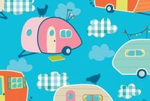 Travel Trailer Fabric and Sewing / Cool retro fabric for a Travel Trailer. / by Elizabeth Clemens-Post