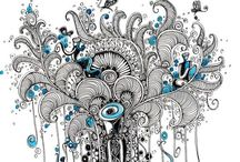 Drawing,Doodles, and More / by Cathie Pearl-Conforti