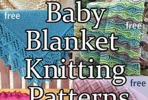 Baby Knitting Patterns / Knitting patterns for baby blankets, sweaters, pants, rompers, booties, bibs, lovey security blankets, snuggle sacks, dresses and more