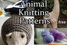 Animal Knitting Patterns / Knitting patterns of your favorite animals - cats, dogs, bunnies, bears, elephants, lions, lambs. Many patterns are free