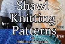 Shawl Knitting Patterns / Knitting patterns for shawls, wraps, stoles. Many patterns are free