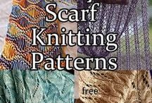 Scarf & Cowl Knitting Patterns / Knitting patterns for scarves and cowls. Most patterns are free