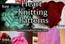 Heart Knitting Patterns / Knitting patterns with heart motifs and for Valentine's Day