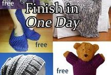 Quick Knitting Patterns / Knitting patterns for quick projects you can finish in a day, a weekend or other short time.