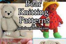 Teddy Bear Knitting Patterns / Knitting patterns for Teddy Bears and other favorite bear - panda, koala, polar. Many patterns are free.