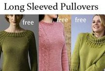 Sweater Knitting Patterns / Knitting patterns for pullover sweaters with long and short sleeves. Many patterns are free.