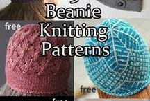 Hat Knitting Patterns / Knitting patterns for hats, headbands, headwraps, hoods. Many patterns are free.