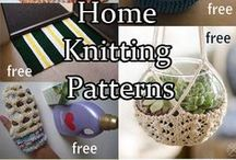 Home Decor Knitting Patterns / Knitting patterns for the household, bathroom, kitchen, and more. Many patterns are free.