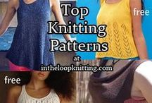 Top Knitting Patterns - Many Free / Knitting patterns for short sleeved and sleeveless tops, tanks, and tees, from casual to elegant. Many free knitting patterns. See http://intheloopknitting.com for more free knitting patterns