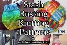 Stashbuster Knitting Patterns / Stash busting knitting patterns for leftover, remnant, and oddball yarn