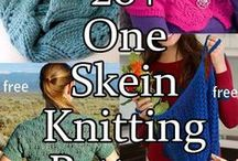 One Skein Knitting Patterns / Knitting patterns that only use one ball or one skein of the recommended yarn