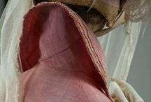 Regency Outerwear (redingotes, habits, spencers, pelisses, shawls, etc.) / This board focuses on extant examples of (mostly) western women's coats, pelisses, riding habits, shawls, fichus, redingotes, overdresses, open robes, and other types of jackets and wraps of (roughly) the extended regency/federal/empire eras. (Disclaimer: I'm NOT a historian - this is a collection of resources available online that appeal to me and is not original research.) Enjoy! :-) / by Heather Hufton