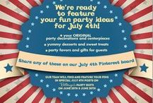 JULY 4TH WEDDINGS AND PARTY IDEAS / Festive ideas for celebrating the 4th of July! If you'd like to join this board, leave a comment at: http://www.bellenza.com/party-ideas/party-crafts/announcement-featured-bellenzas-july-4th-party-decor-treats-fest