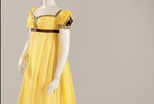 Regency Yellows / Examples of yellow (and some gold) fabrics and garments in ladies fashions from the (roughly) extended regency/federal/empire eras. / by Heather Hufton