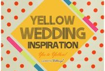 YELLOW WEDDING INSPIRATION / Ideas for bringing the chic and cheery flair of yellow to wedding ceremony details, bridal party attire, table settings, centerpieces, reception decor, sweet treats, drinks, favors, and more! Includes LEMON theme inspiration. / by Bellenza