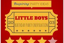 LITTLE BOYS' BIRTHDAY PARTY INSPIRATION / Cool, creative, colorful ideas for a birthday party a little boy is sure to rave about! / by Bellenza