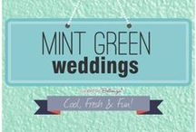 MINT GREEN WEDDINGS / Cool, fresh ideas for decorating your wedding in this trendiest of colors: mint green! / by Bellenza
