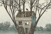 illustration - houses-streets-towns