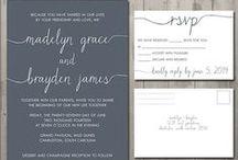 Wedding - Invitations Ideas / Invites, Save the Dates, Programs, etc.
