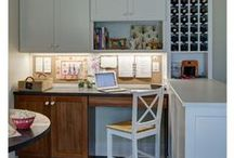 Command Center / Kitchen desk, kitchen charging station, organize electronics