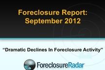 The Foreclosure Report | September 2012 / Dramatic Decrease In Foreclosure Activity / by ForeclosureRadar