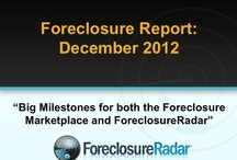 The Foreclosure Report | December 2012 / Big Milestones for both the Foreclosure Marketplace and ForeclosureRadar®. / by ForeclosureRadar