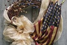 Our heroes and the red, white and blue / by Tina Novotny