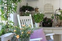 Painted Garden Furniture & Sheds