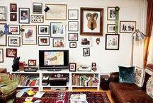 La maison / Bedroom, kitchen, living room, plants, frames, interior decor and more.