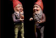 Vintage gnomes and santa clause