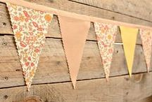 Decor | Bunting & Banners / I might have a slight obsession with these. I love the endless possibilities...how easy they are to make...and how FESTIVE they look! / by Jill Nystul  |  One Good Thing by Jillee
