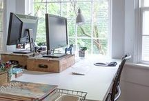 Home | Office / Furniture, decor, accessories, etc. for a lovely and inspiring home office.
