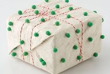Gift Wrap / These little packages were wrapped with love, skill, and artistic flair.  Gift wrap: an art form unto itself.