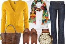 Ideas para vestir / Ejemplos de prendas y accesorios que funcionan muy bien juntos, distintas formas de combinarlos, aprendizaje sobre color y proporción. / by Senorita Cometa